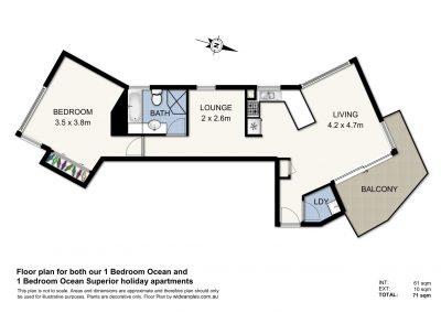 (1 Bed) Floor Plan - Ocean & Ocean Superior - Web