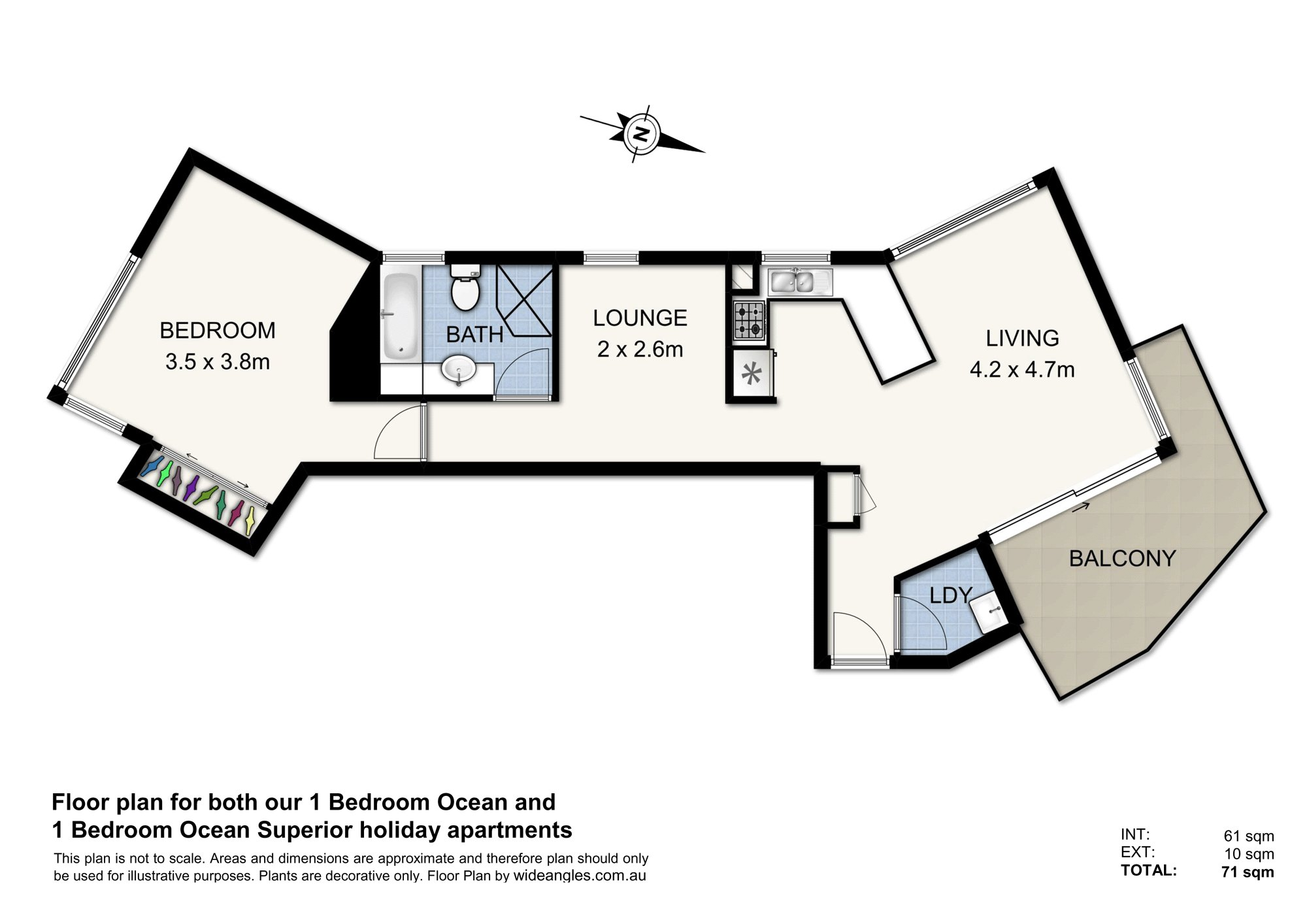 (1 Bed) Floor Plan - Ocean & Ocean Superior - Web